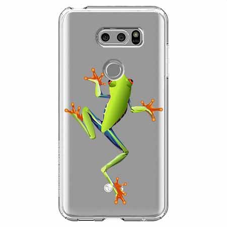 Etui na LG V30 - Zielona żabka.