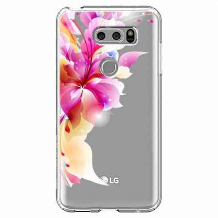 Etui na LG V30 - Bajeczny kwiat.