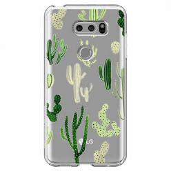 Etui na LG V30 - Kaktusowy ogród.