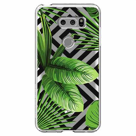 Etui na LG V30 - Egzotyczne liście bananowca.