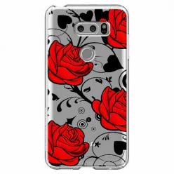 Etui na LG V30 - Czerwone róże.