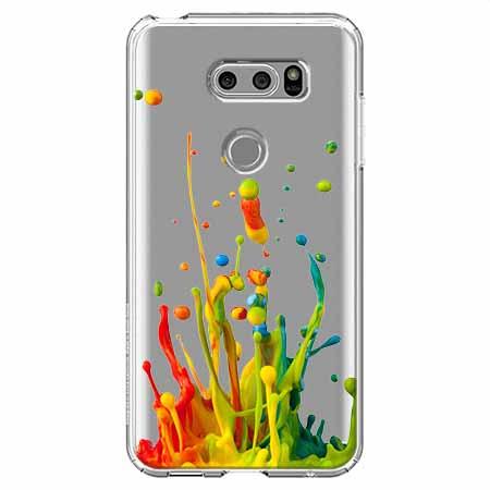 Etui na LG V30 - Kolorowy splash.