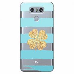 Etui na LG G6 - Złota czterolistna koniczyna.