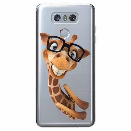 Etui na LG G6 - Wesoła żyrafa w okularach.