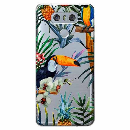 Etui na LG G6 - Egzotyczne tukany.