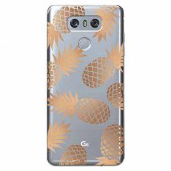 Etui na LG G6 - Złote ananasy.