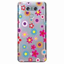 Etui na LG G6 - Kolorowe stokrotki.