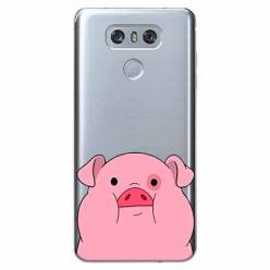 Etui na LG G6 - Słodka różowa świnka.