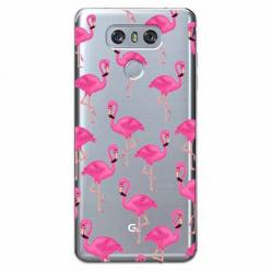 Etui na LG G6 - Różowe flamingi.