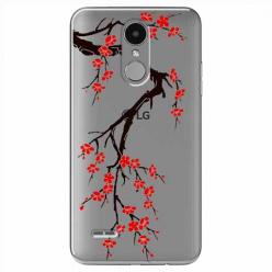 Etui na LG K8 2017 - Krzew kwitnącej wiśni.