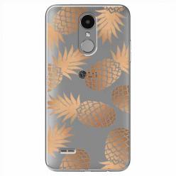 Etui na LG K8 2017 - Złote ananasy.