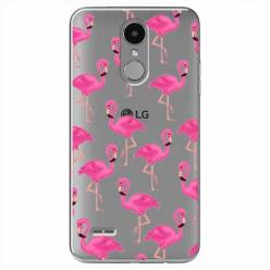 Etui na LG K8 2017 - Różowe flamingi.