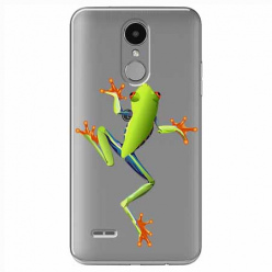 Etui na LG K4 2017 - Zielona żabka.