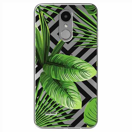 Etui na LG K4 2017 - Egzotyczne liście bananowca.