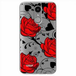 Etui na LG K4 2017 - Czerwone róże.