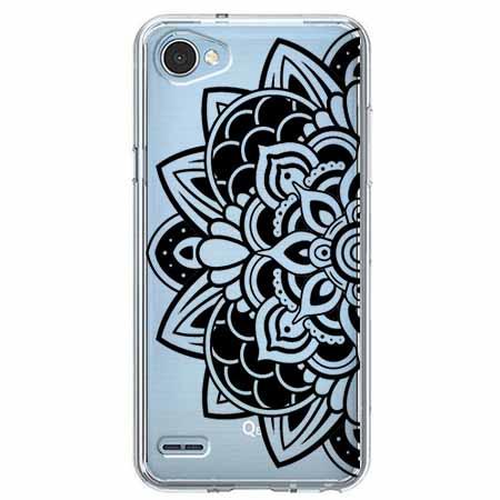 Etui na LG Q6 - Kwiatowa mandala.