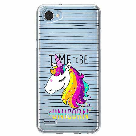 Etui na LG Q6 - Time to be unicorn - Jednorożec.