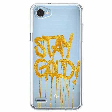 Etui na LG Q6 - Stay Gold.