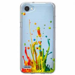 Etui na LG Q6 - Kolorowy splash.