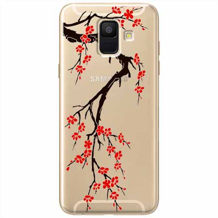 Etui na Samsung Galaxy A6 2018 - Krzew kwitnącej wiśni.