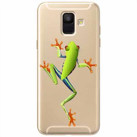 Etui na Samsung Galaxy A6 2018 - Zielona żabka.