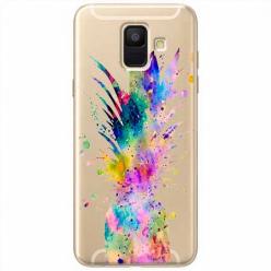 Etui na Samsung Galaxy A6 2018 - Watercolor ananasowa eksplozja.