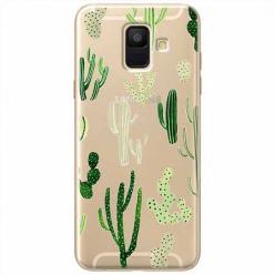 Etui na Samsung Galaxy A6 2018 - Kaktusowy ogród.