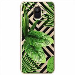 Etui na Samsung Galaxy A6 2018 - Egzotyczne liście bananowca.