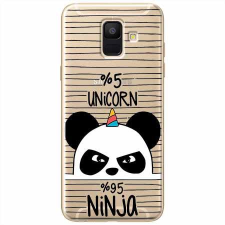 Etui na Samsung Galaxy A6 2018 - Ninja Unicorn - Jednorożec.