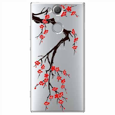 Etui na Sony Xperia XA2 - Krzew kwitnącej wiśni.