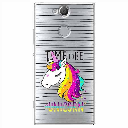 Etui na Sony Xperia XA2 - Time to be unicorn - Jednorożec.
