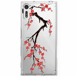 Etui na Sony Xperia XZ - Krzew kwitnącej wiśni.