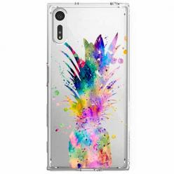 Etui na Sony Xperia XZ - Watercolor ananasowa eksplozja.