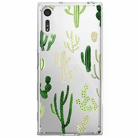 Etui na Sony Xperia XZ - Kaktusowy ogród.