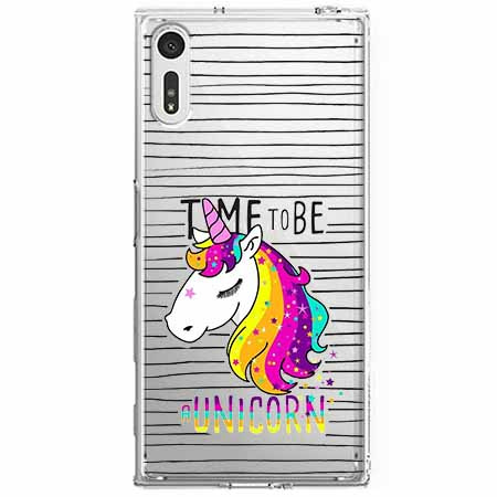 Etui na Sony Xperia XZ - Time to be unicorn - Jednorożec.