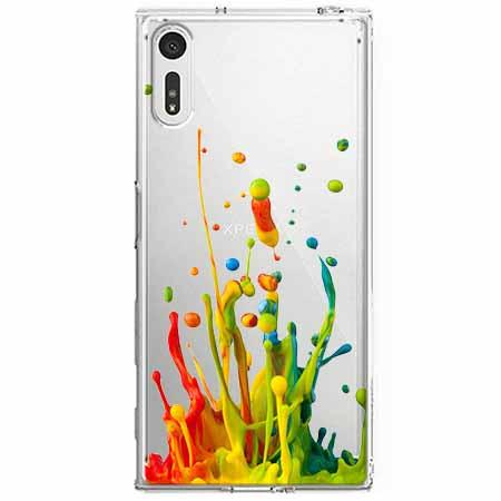 Etui na Sony Xperia XZ - Kolorowy splash.