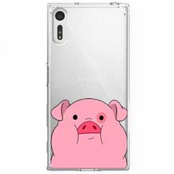 Etui na Sony Xperia XZ - Słodka różowa świnka.
