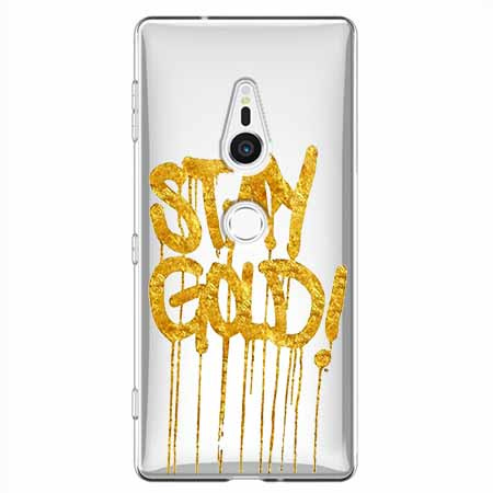Etui na Sony Xperia XZ2 - Stay Gold.