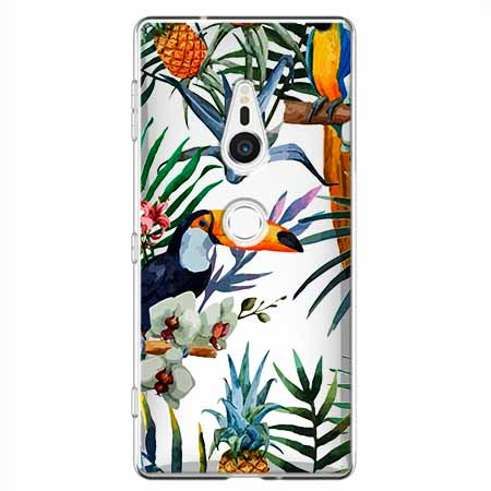 Etui na Sony Xperia XZ2 - Egzotyczne tukany.