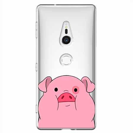 Etui na Sony Xperia XZ2 - Słodka różowa świnka.