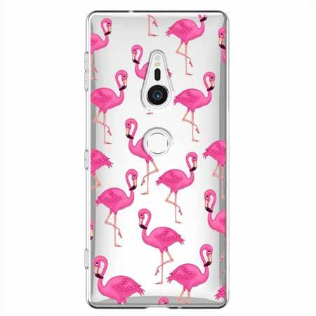 Etui na Sony Xperia XZ2 - Różowe flamingi.