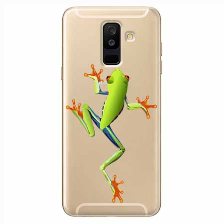 Etui na Samsung Galaxy A6 Plus 2018 - Zielona żabka.