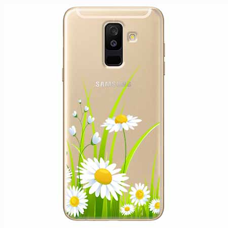 Etui na Samsung Galaxy A6 Plus 2018 - Polne stokrotki.