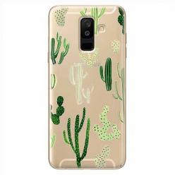 Etui na Samsung Galaxy A6 Plus 2018 - Kaktusowy ogród.
