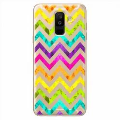 Etui na Samsung Galaxy A6 Plus 2018 - Tęczowy przeplataniec.
