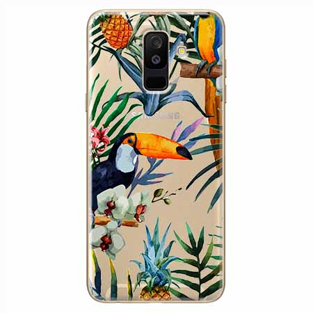 Etui na Samsung Galaxy A6 Plus 2018 - Egzotyczne tukany.