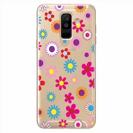 Etui na Samsung Galaxy A6 Plus 2018 - Kolorowe stokrotki.