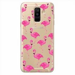 Etui na Samsung Galaxy A6 Plus 2018 - Różowe flamingi.