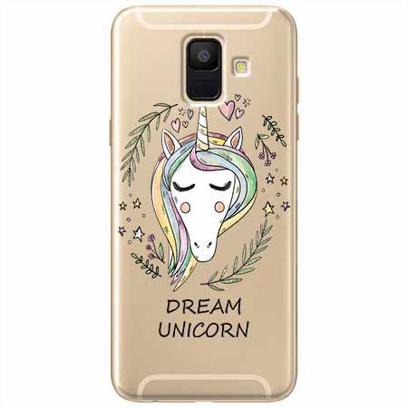 Etui na Samsung Galaxy A8 2018 - Dream unicorn - Jednorożec.