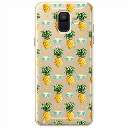 Etui na Samsung Galaxy A8 2018 - Ananasowe szaleństwo.